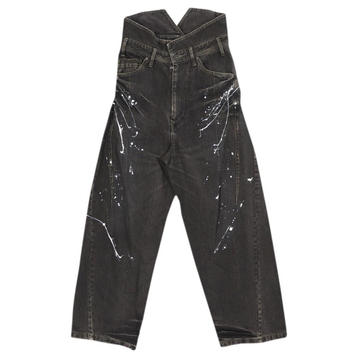 Julius 7 \N Black Cotton Jeans for Men 38 FR