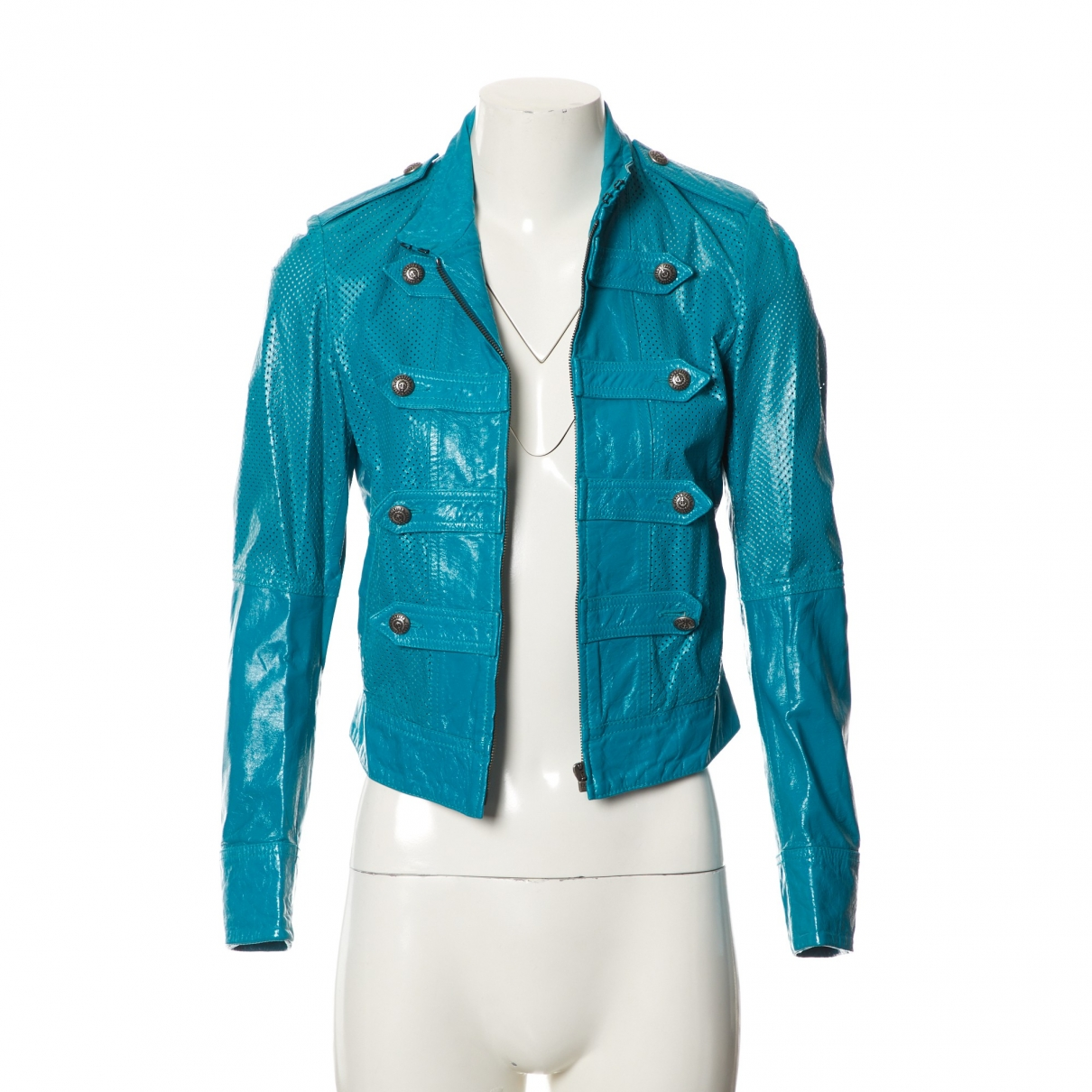 Jean Paul Gaultier \N Blue Leather jacket for Women 42 FR