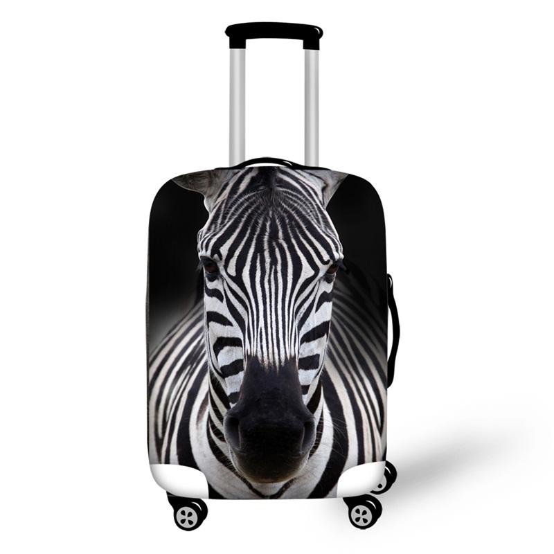 3D Zebra Animals Pattern Waterproof Suitcase Protector 19 20 21