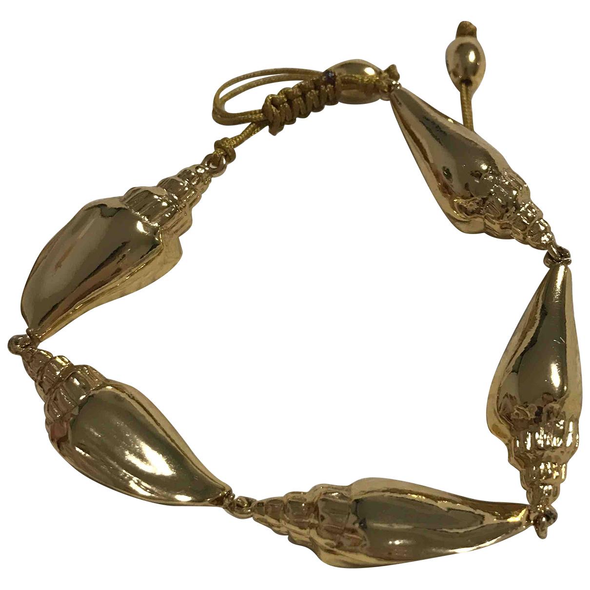 Tohum - Bracelet   pour femme en plaque or - dore