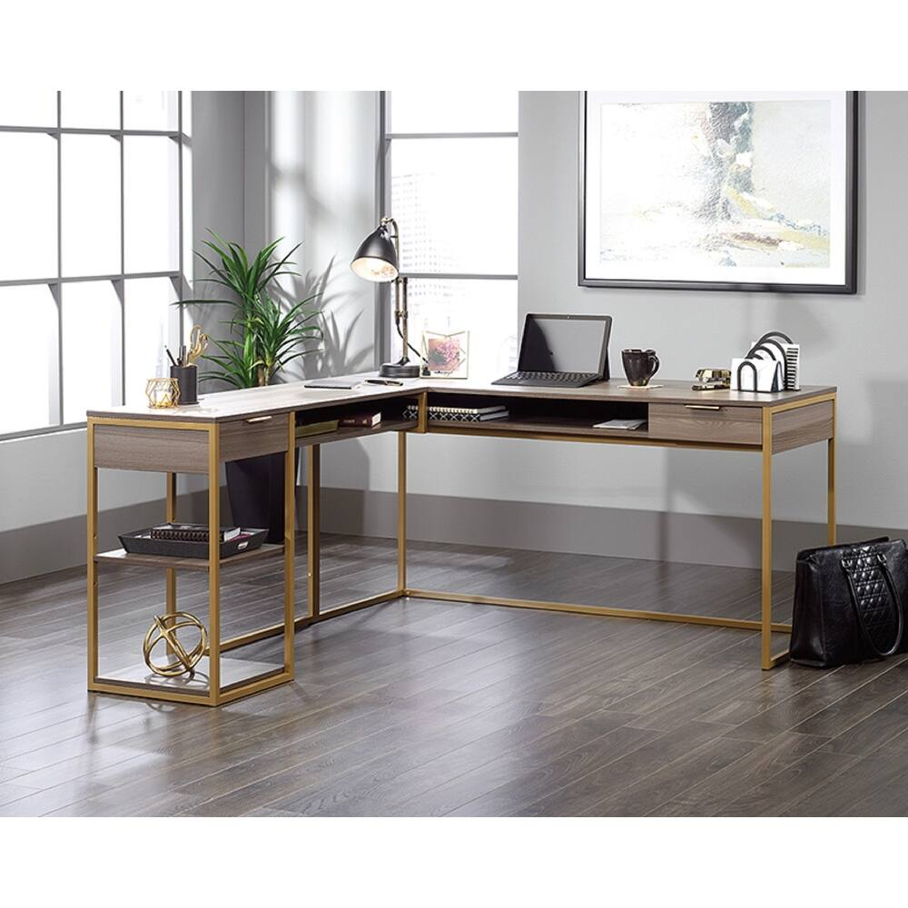 Sauder Lux Collection Home Office Desk (Wood Finish - Grey)
