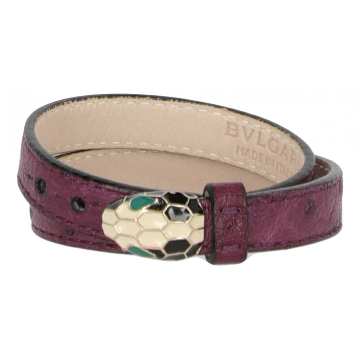 Bvlgari \N Purple Ostrich belt for Women 70 cm