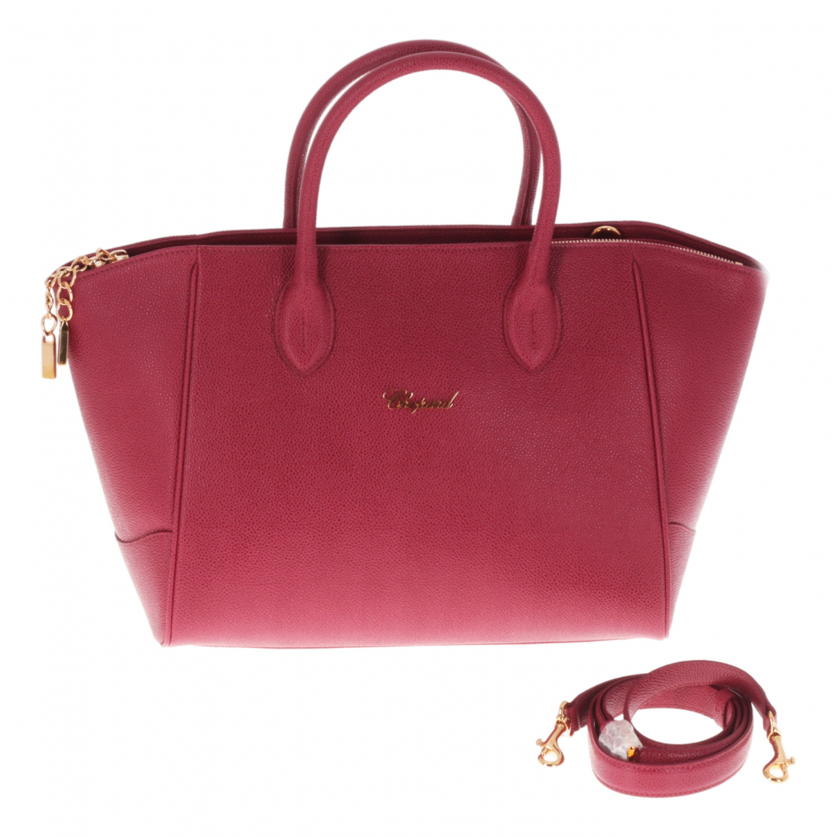 Chopard N Burgundy Leather handbag for Women N