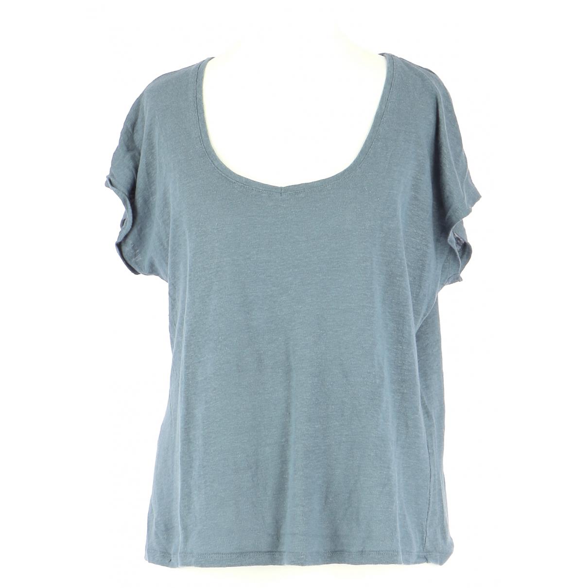 Comptoir Des Cotonniers - Top   pour femme en lin - bleu