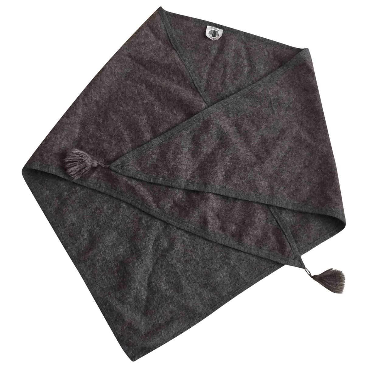 - Foulard   pour femme en laine - gris