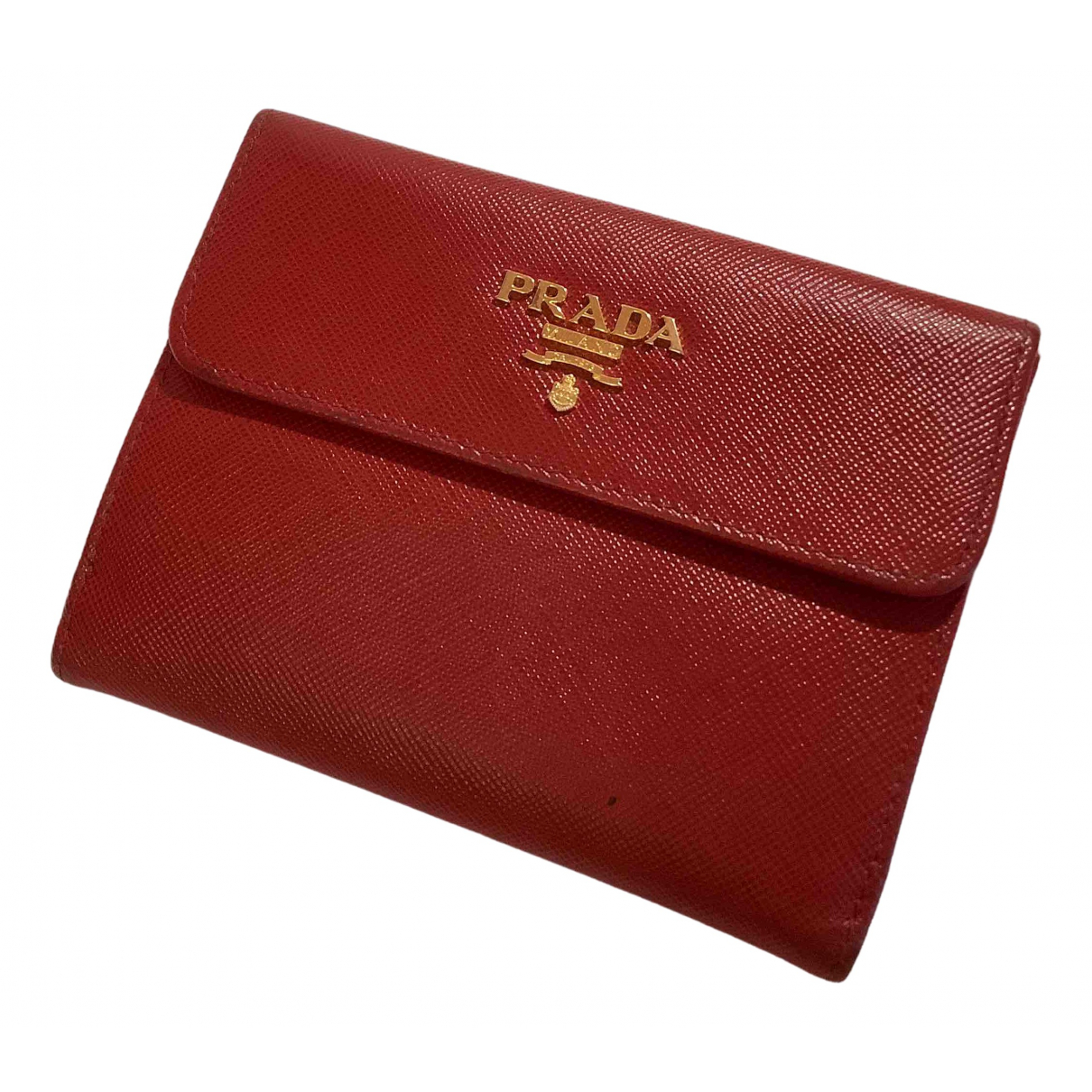 Prada \N Red Leather wallet for Women \N