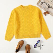 Girls Mixed Knit Sweater