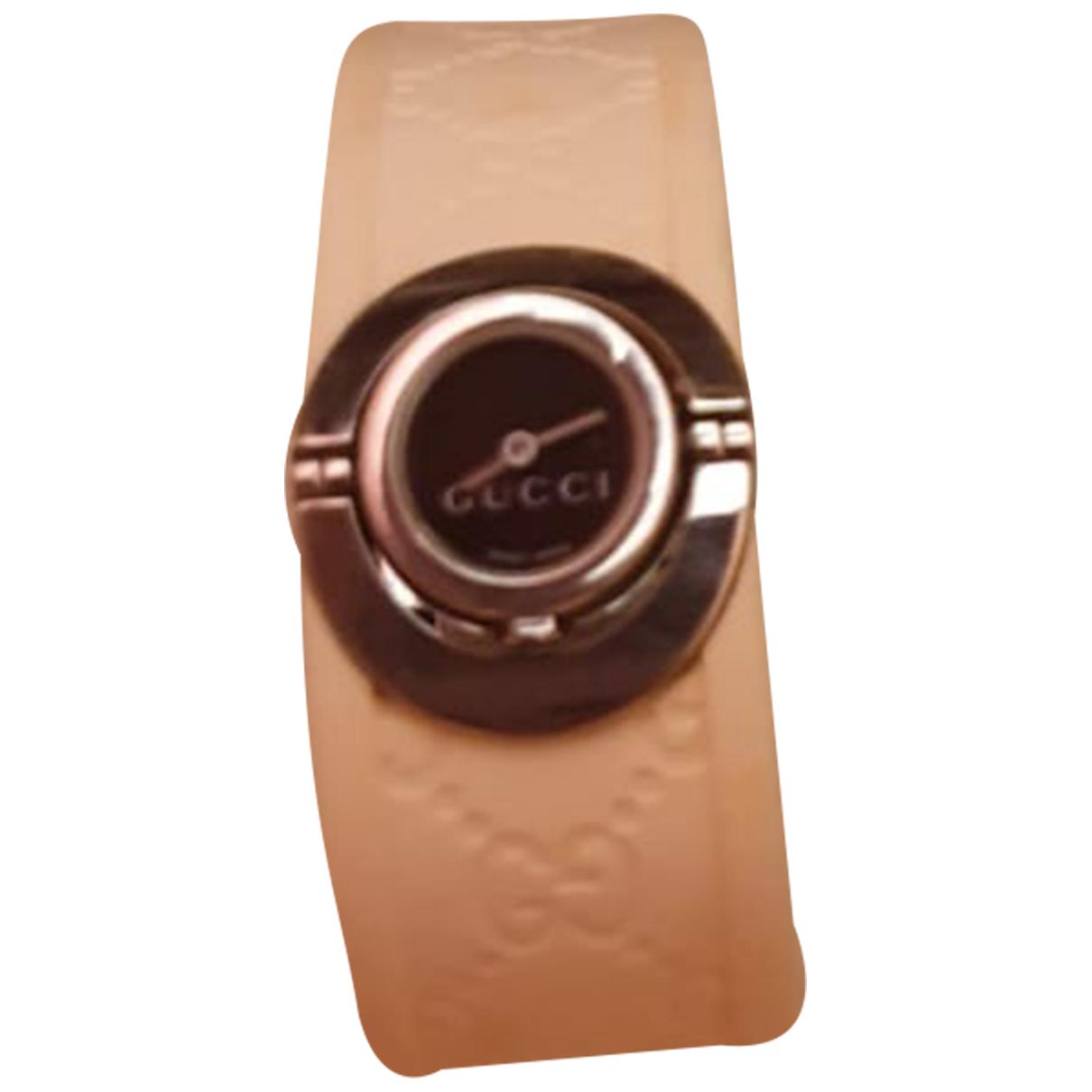 Gucci Twirl Uhr in  Weiss Stahl
