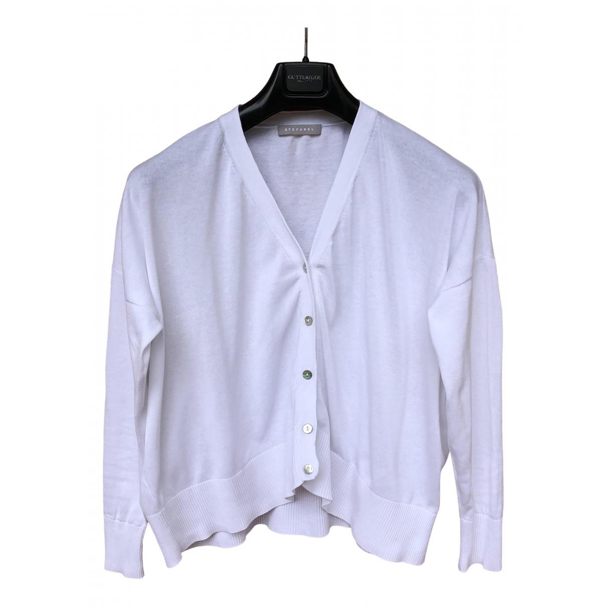Stefanel - Pull   pour femme en coton - blanc