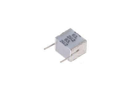 EPCOS 2.2μF Polyester Capacitor PET 40 V ac, 63 V dc ±10%, Through Hole (5)