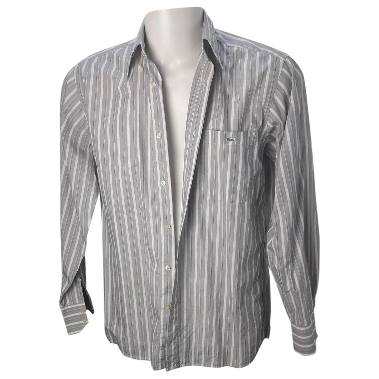 Lacoste \N Hemden in  Grau Baumwolle