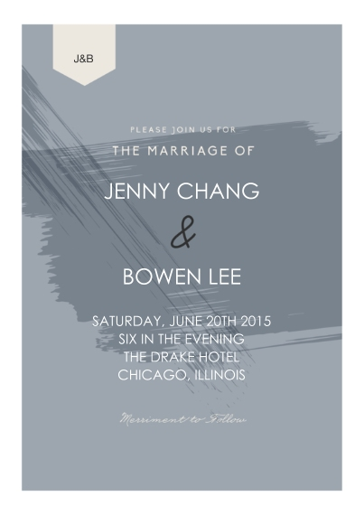Wedding Invitations Flat Matte Photo Paper Cards with Envelopes, 5x7, Card & Stationery -Paint Wedding Invitation Set