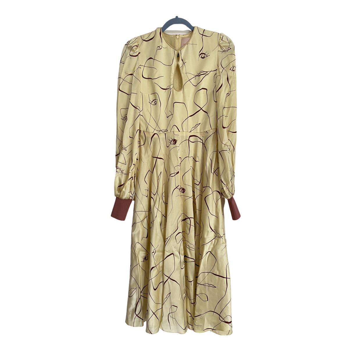 Roksanda \N Yellow Silk dress for Women 8 UK