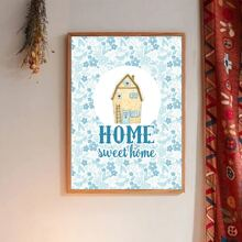 House Print Wall Painting Without Frame