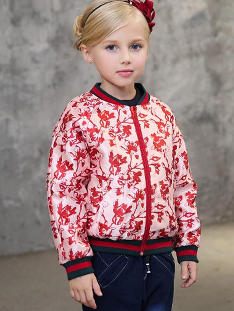 Ericdress Floral Print Spring Girls Jacket
