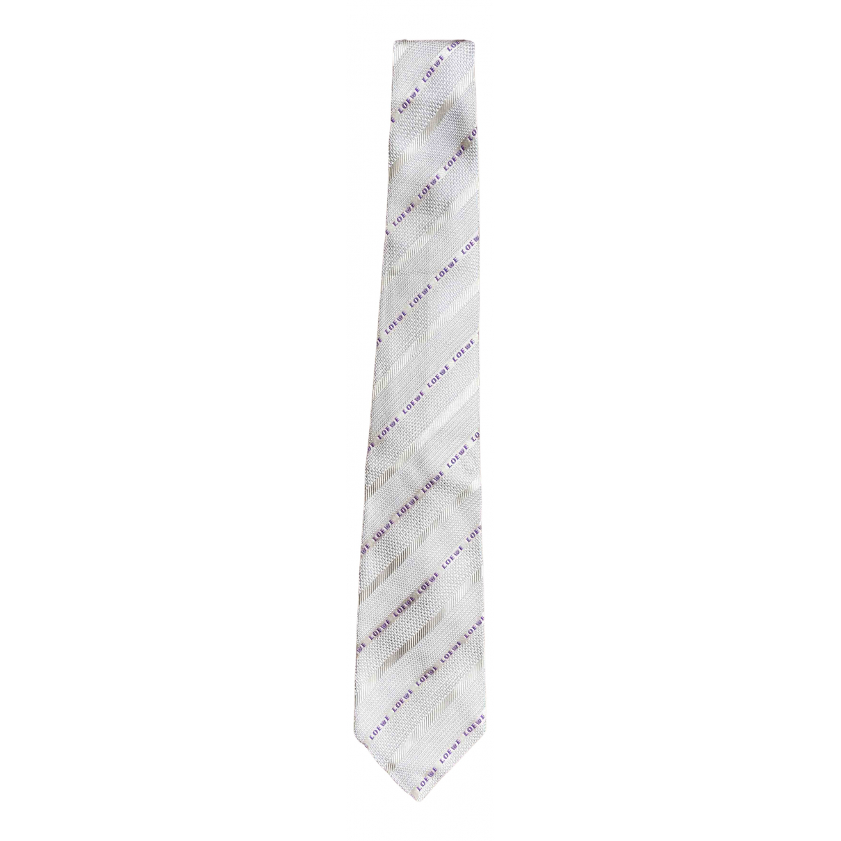 Loewe - Cravates   pour homme en soie - beige