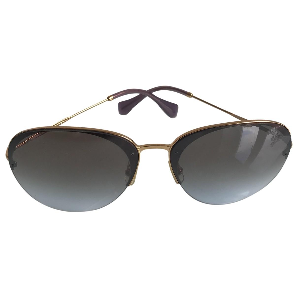 Miu Miu \N Sonnenbrillen in  Lila Metall