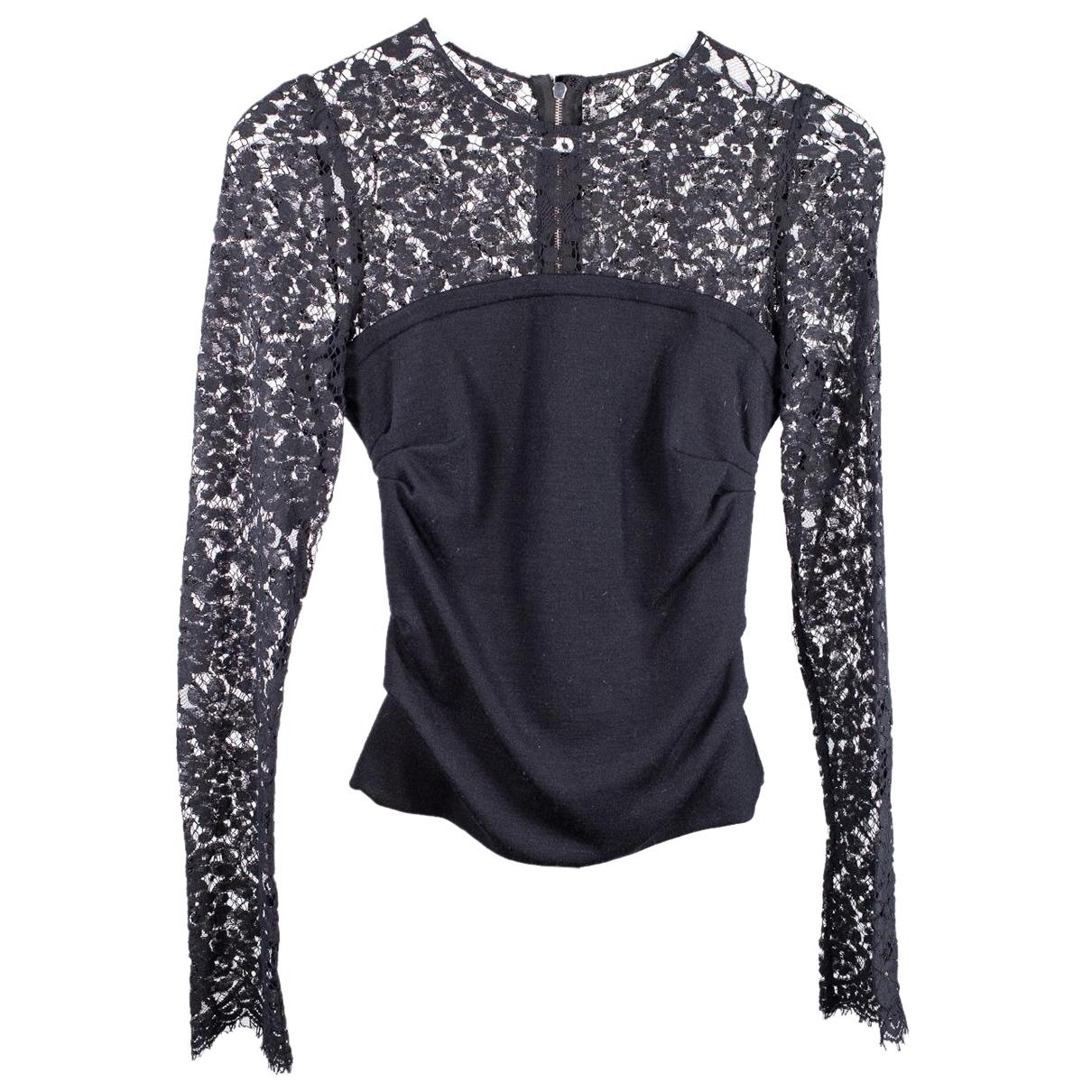 Dolce & Gabbana N Black Lace  top for Women 36 FR