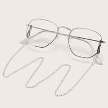 Metal Frame Glasses With Glasses Chain