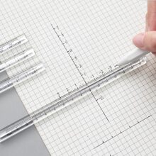 2pcs Clear Triangular Ruler