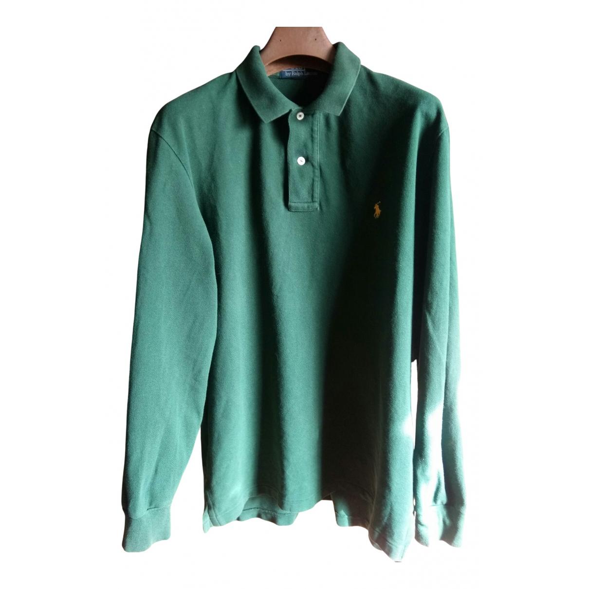 Polo Polo classique manches longues en Algodon Verde Polo Ralph Lauren
