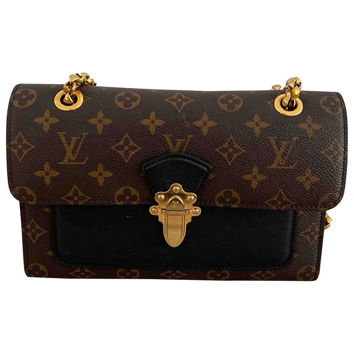 Louis Vuitton Victoire Handtasche in  Braun Leinen