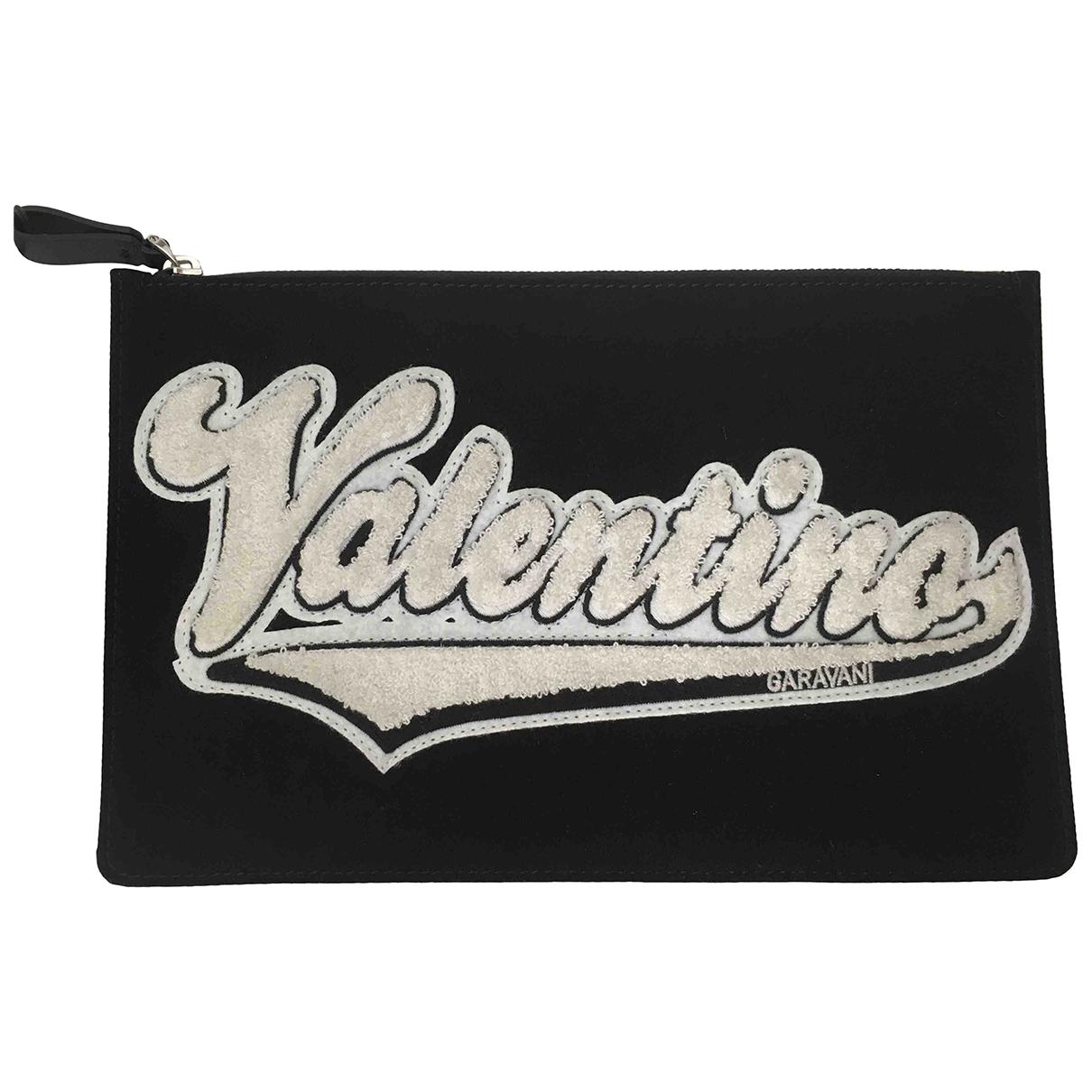 Valentino Garavani - Petite maroquinerie   pour homme en toile - noir