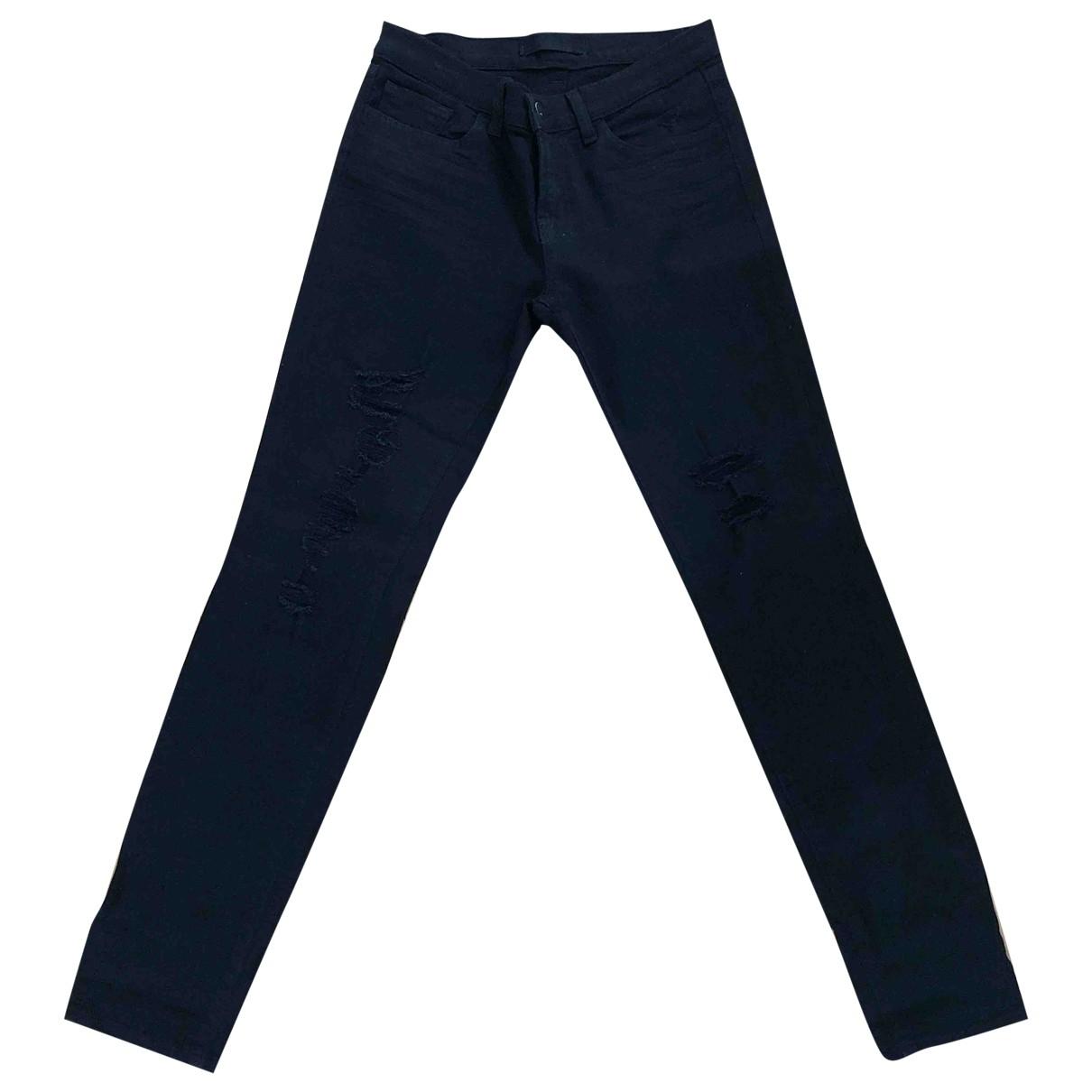 J Brand \N Black Cotton Jeans for Women 30 US