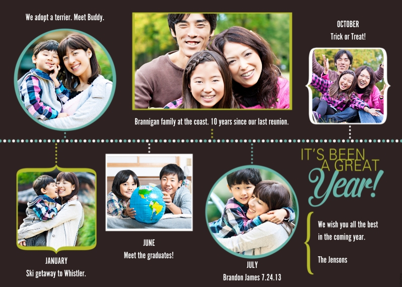 Christmas Photo Cards 5x7 Cards, Premium Cardstock 120lb with Rounded Corners, Card & Stationery -What a Year!
