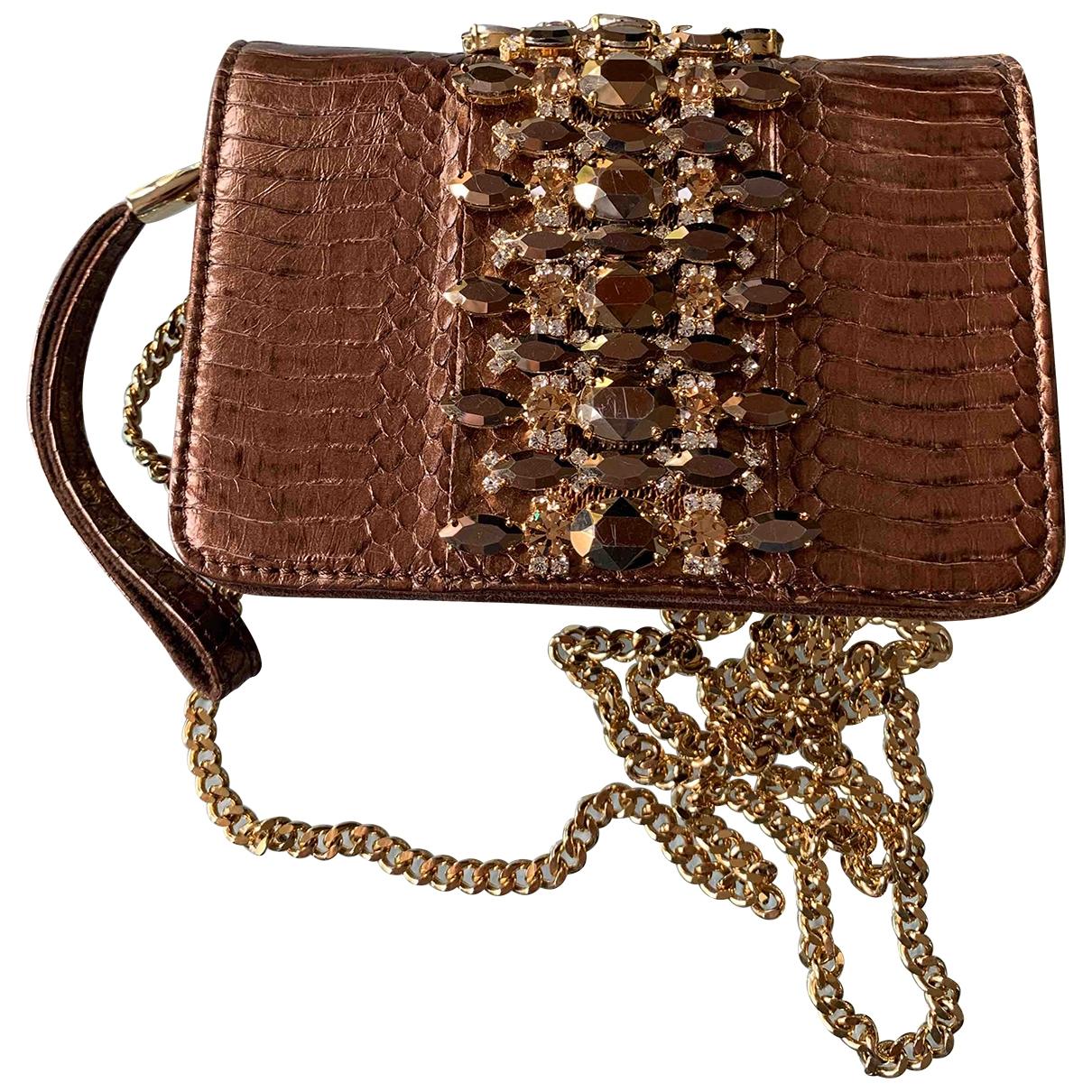 Emanuela Caruso Capri \N Metallic Lizard handbag for Women \N