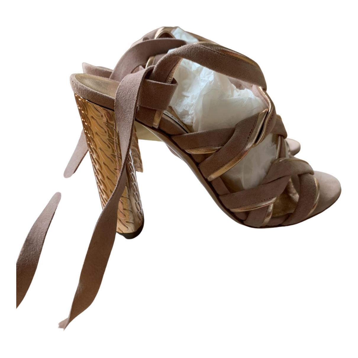 Casadei \N Pink Suede Sandals for Women 36 EU