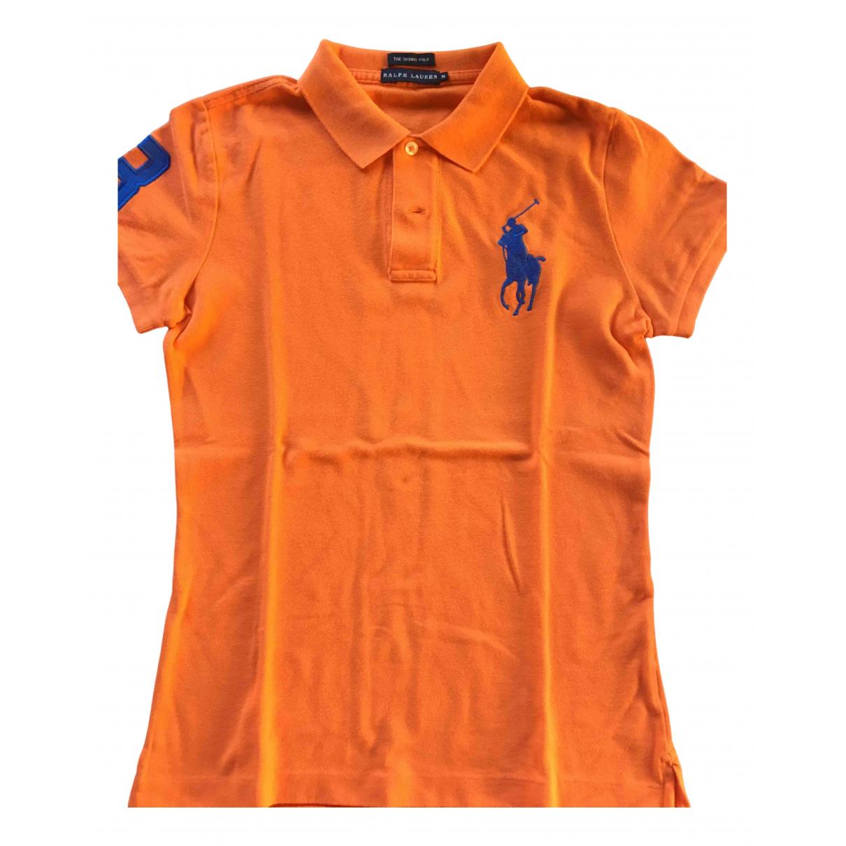Ralph Lauren - Top   pour femme en coton - orange