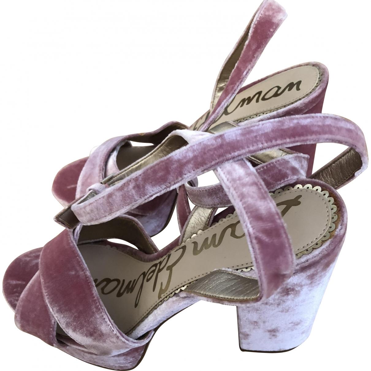 Sam Edelman \N Pink Velvet Heels for Women 39 EU