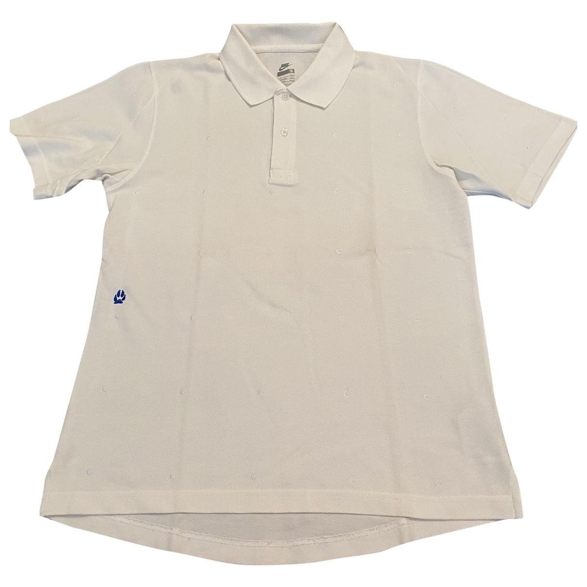 Nike - Polos   pour homme en coton - blanc