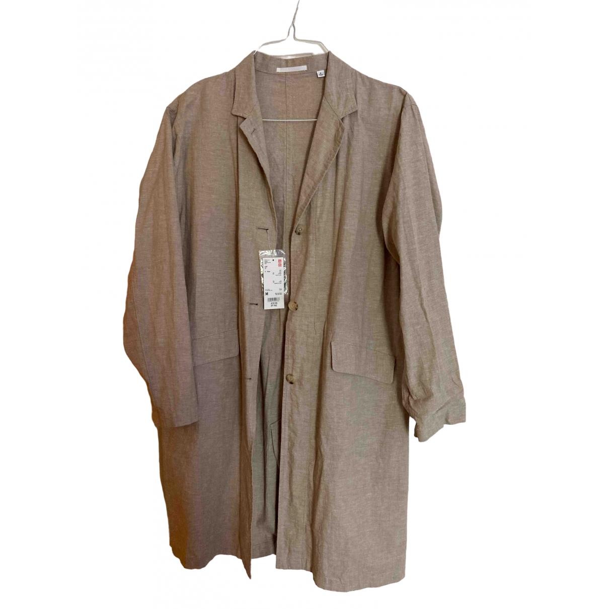 Uniqlo \N Beige Linen coat for Women M International