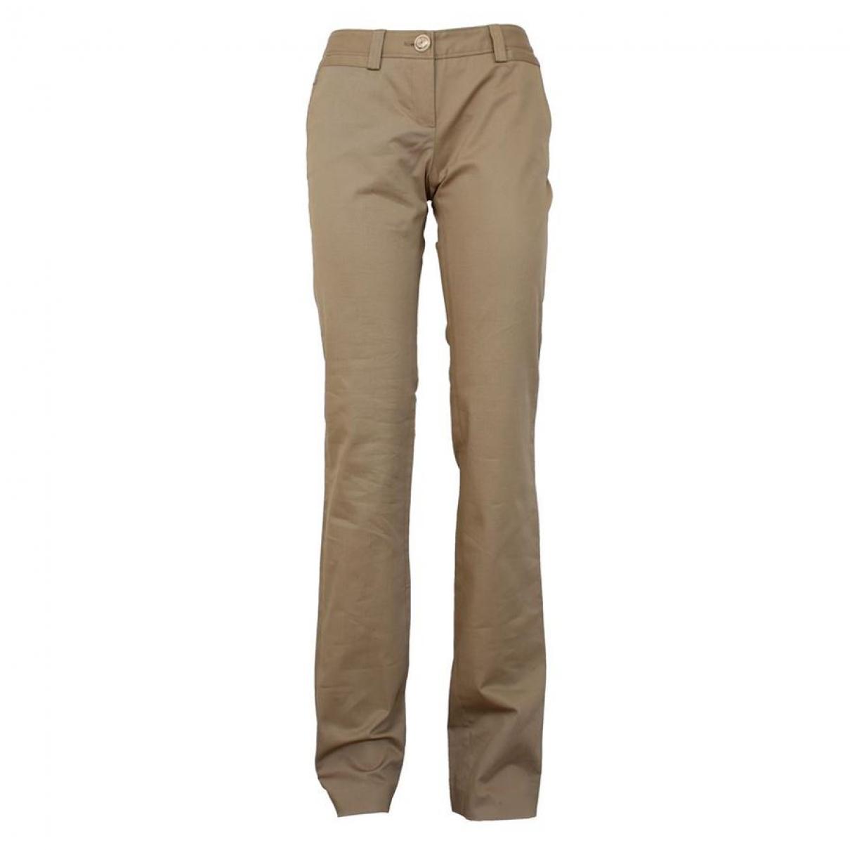Dolce & Gabbana - Pantalon   pour femme en coton - beige