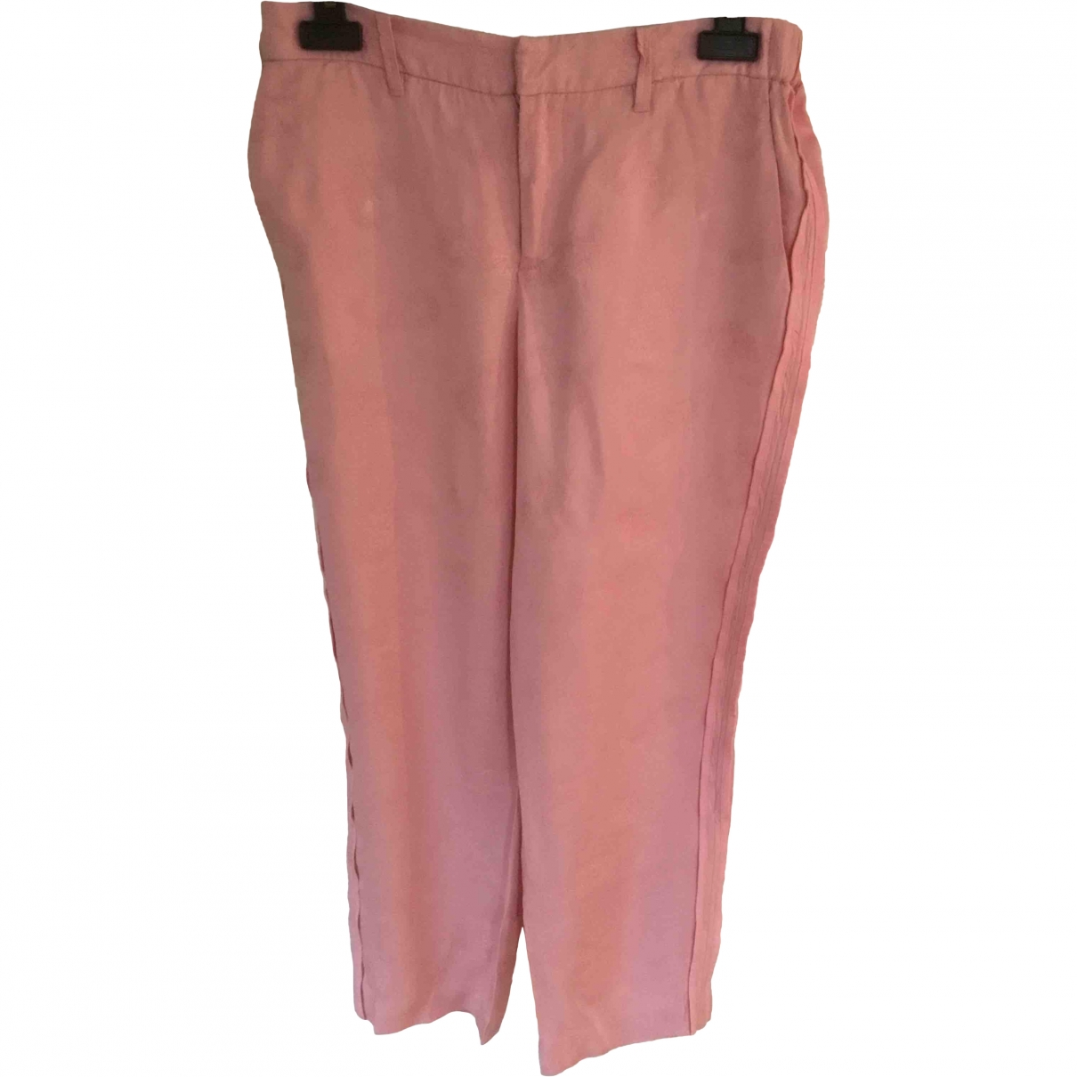 Zadig & Voltaire Spring Summer 2019 Pink Trousers for Women 38 FR