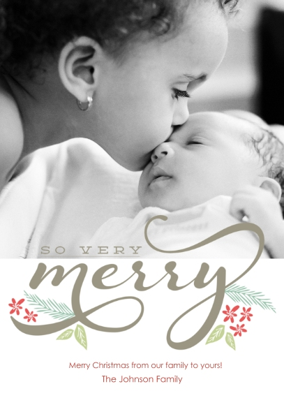 Christmas Photo Cards 5x7 Cards, Premium Cardstock 120lb with Rounded Corners, Card & Stationery -Very Merry