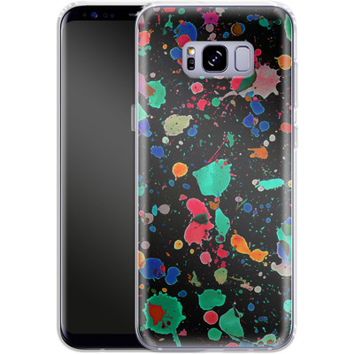 Samsung Galaxy S8 Plus Silikon Handyhuelle - Colourful Splatter von Amy Sia