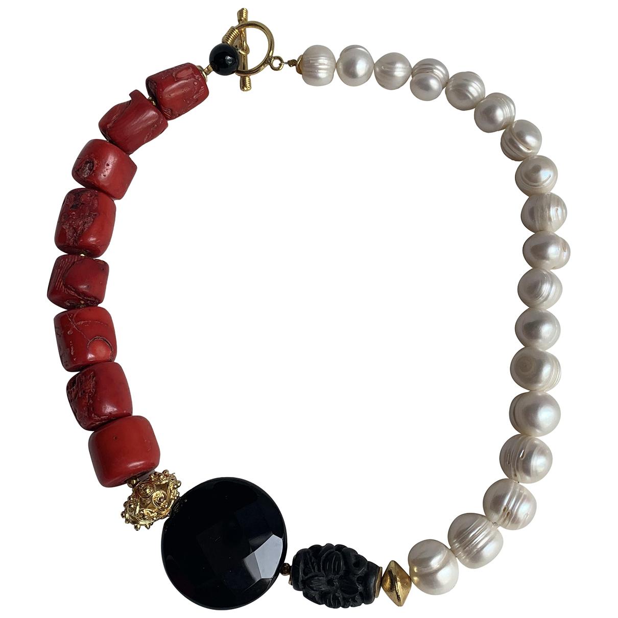 - Collier Art Deco pour femme en perles - multicolore