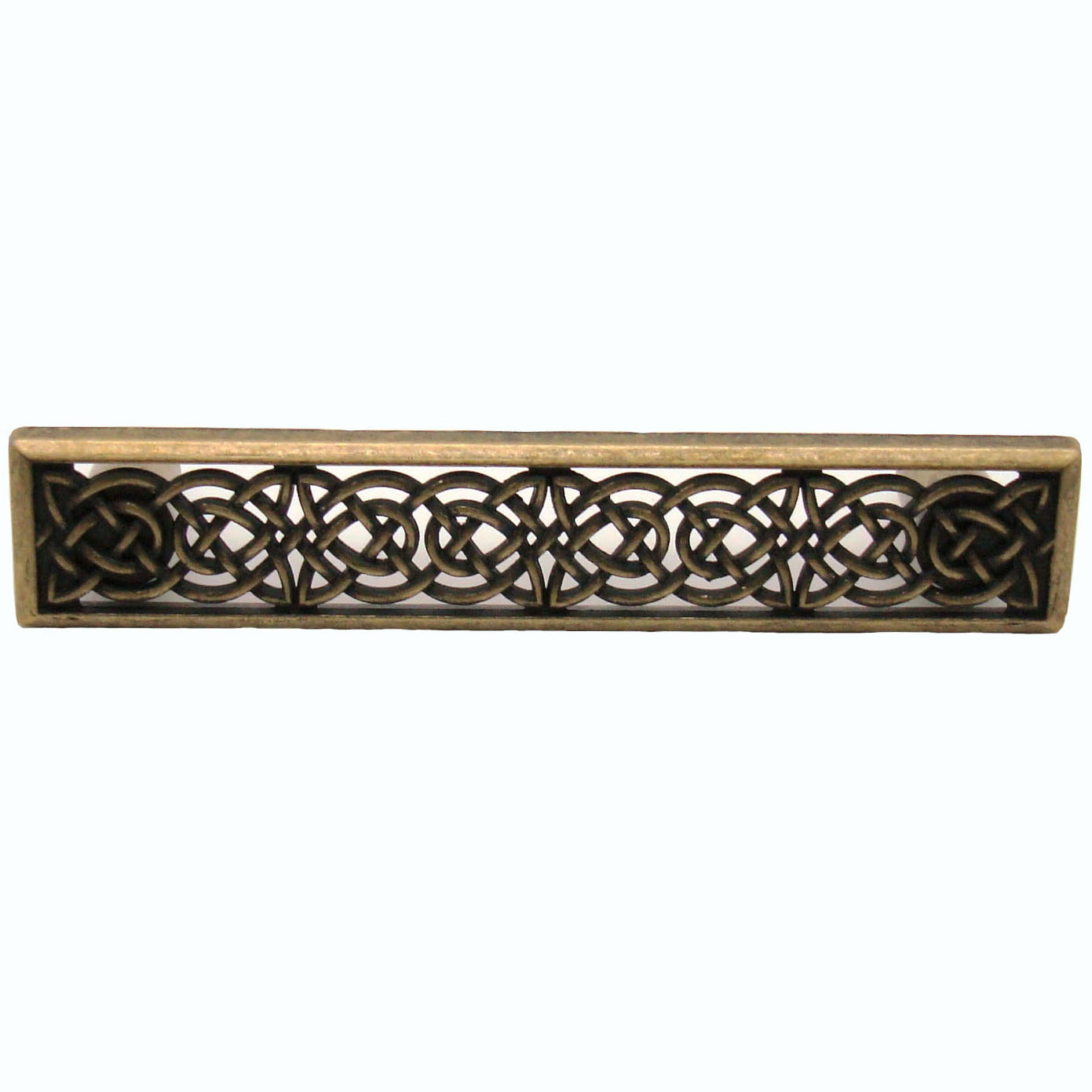 Small Celtic Style Pull,  Brass Oxide
