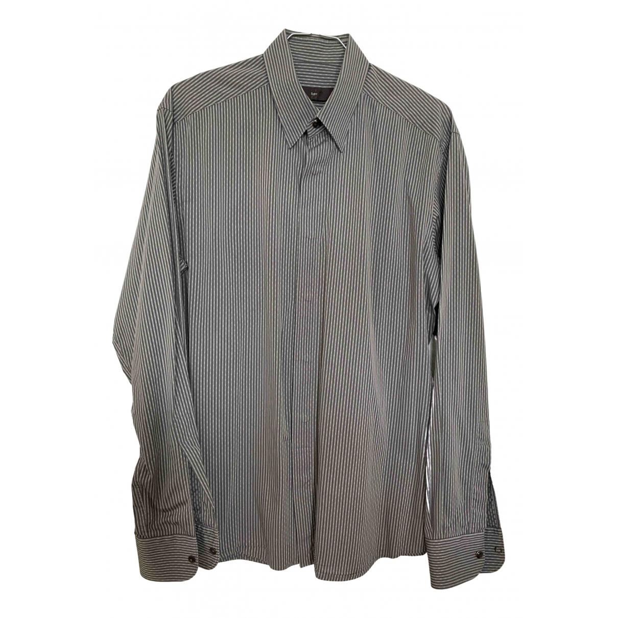Z Zegna - Chemises   pour homme en coton - gris