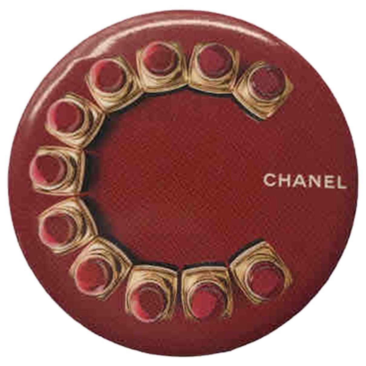 Broche en Metal Rojo Chanel
