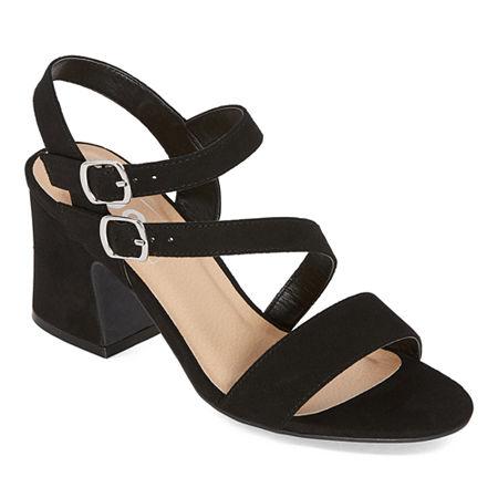 Pop Womens Modd Heeled Sandals, 9 Medium, Black