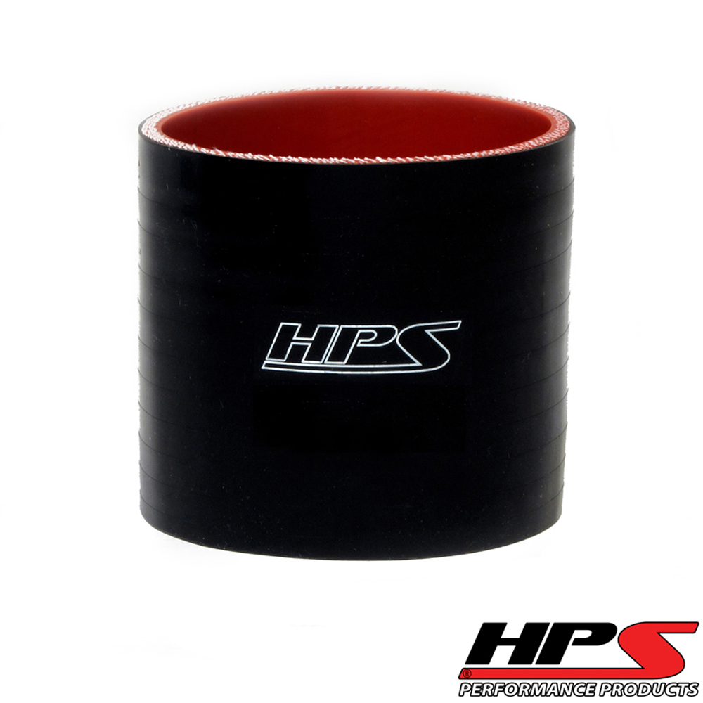 HPS 2.25inch (57mm) 4-ply Reinforced Straight Coupler Silicone Hose x 4inch Length Black