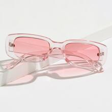Clear Frame Tinted Lens Sunglasses