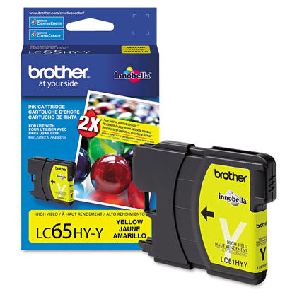 Brother MFC-5890CN Original Yellow Ink Cartridge, High Yield
