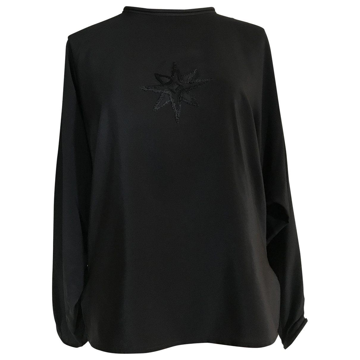 Gianni Versace - Top   pour femme en soie - noir