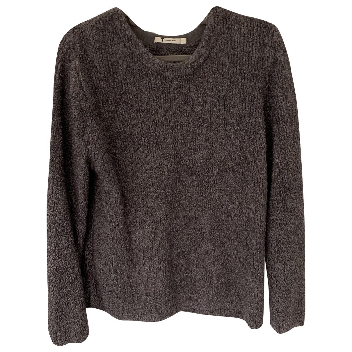 T By Alexander Wang - Pull   pour femme en laine - gris
