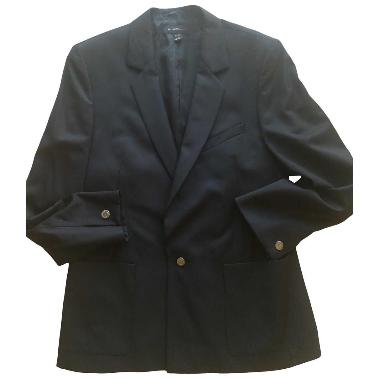 Karl Lagerfeld Pour H&m \N Jacke in  Schwarz Viskose